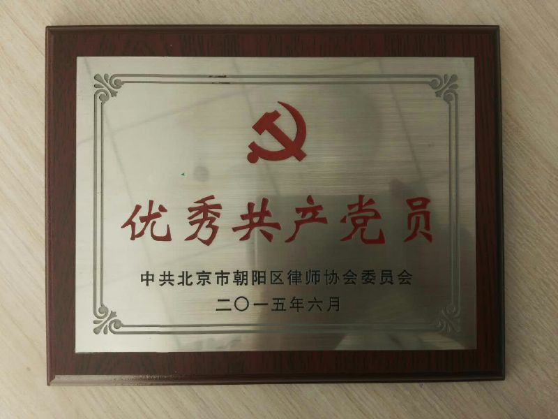 2015年优秀共产党员